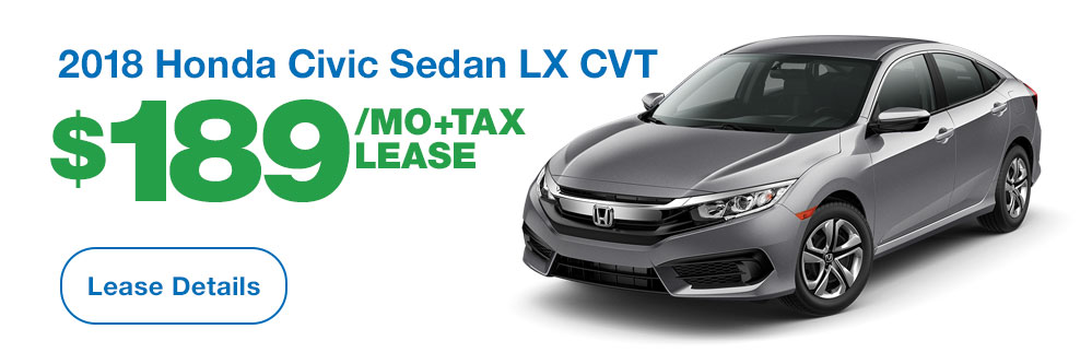 2017 Honda Civic Sedan LX CVT Lease
