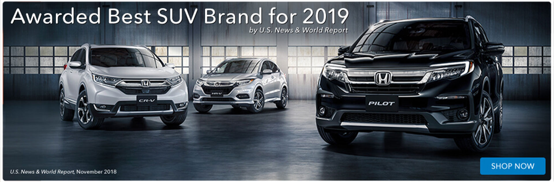 Awarded Best SUV Brand for 2019